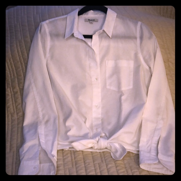 Madewell Tops - Madewell button down w/tie bottom